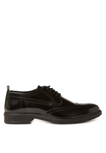 Topman black Black Hi Shine Leather Baron Brogues 8BA12SH43EE4C3GS_1