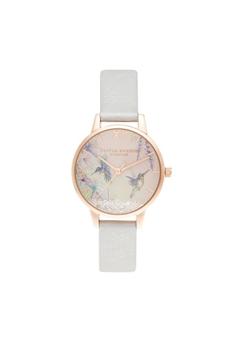 Olivia Burton gold Olivia Burton Painterly Prints Rose Gold & Floral Women's Watch (OB16PP61) 1506BACC2753F5GS_1
