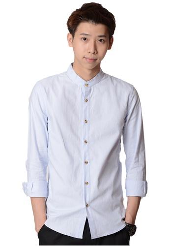 Praise blue Long Sleeves Shirt C1811AAD376188GS_1
