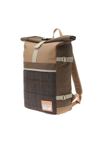 The Earth multi and brown HARRIS TWEED ROLLTOP - D.BROWN TH763AC71HYMHK_1