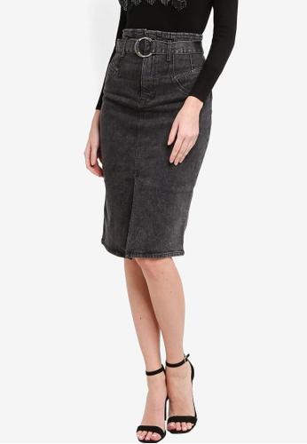 GUESS black Corset Longue Skirt F4177AA27F8880GS_1