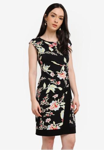 Wallis black Black Oriental Print Border Tunic Dress 61CE3AAC5088EAGS_1
