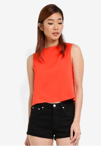 ZALORA orange Boxy Cropped Top 490BCAA41C34ACGS_1