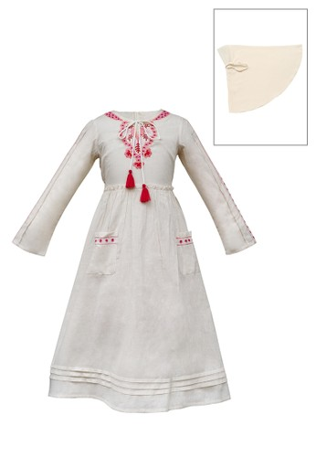 ESTRELLA beige Muslim Dress Anak ESM 77 6/12 62EF7KA8C25EBDGS_1