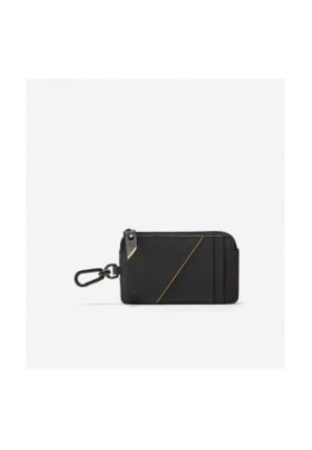 Cole Haan black Cole Haan Zerogrand Zip Card Case with Key Ring - Black/Cyber Yellow 94108AC810D902GS_1