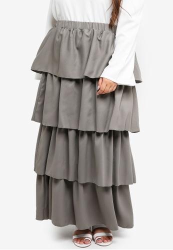 467b69290bd9 Buy CURVA FABULOUS Ruffle Layered Skirt Online   ZALORA Malaysia