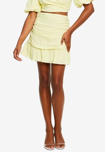 Sável yellow Aubree Mini Skirt 5D207AA53D5E58GS_1