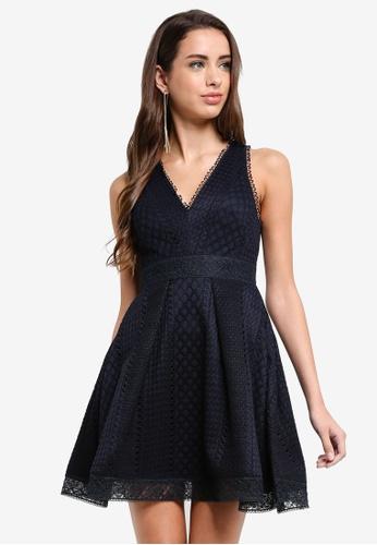 Forever New navy Valery Lace Mini Ball Dress 69637AA19E9942GS_1
