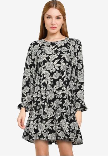JACQUELINE DE YONG black Swing Mini Dress 81248AAA7D8097GS_1