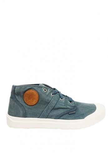 Palladium Boots blue Pallarue Mid LC Men's Sneakers D8FA1SH633A0E5GS_1