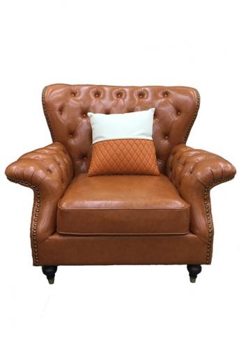 Choice Furniture orange Choice Furniture - Sonel Chesterfield Sofa (3 Seater) E8AB7HLC3248F5GS_1