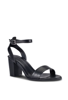 15% OFF ZALORA PU Ankle Strap Heeled Sandals RM 129.00 NOW RM 109.90  Available in several sizes