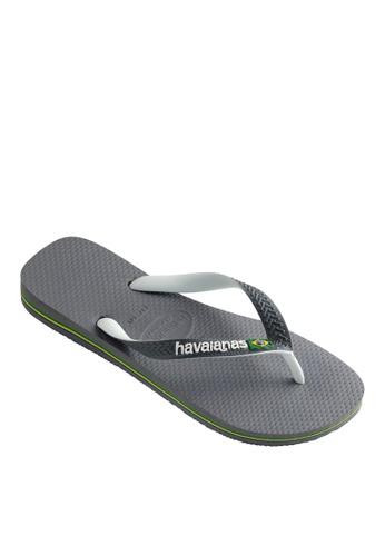 Havaianas grey Havaianas Brasil Mix Flip Flops A60FFSH2387BD8GS_1