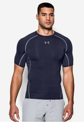 195ea31a8d5 Under Armour grey Men s UA HeatGear® Armour Short Sleeve Compression Shirt  UN337AA63ALOMY 1. CLICK TO ZOOM