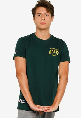 SUPERDRY green Varsity Arch Mini Tee - Sportstyle Code 999F8AAF9ACBC9GS_1