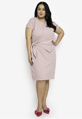 RUESALIDOU pink Plus Size Amarah Dress 99148AA4B229D5GS_1