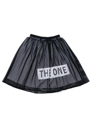 Ribbons+Wheels black OMAMIMINI Girls Mesh Skirt AAC96KA7D963F7GS_1