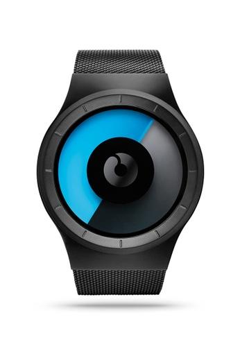 ZIIIRO black and blue Celeste Black Mono Watch 9B79EAC43CE1A2GS_1