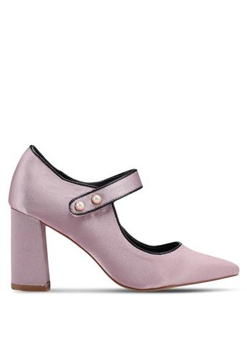 Nose pink Mary Jane Chunky Heel Pumps 01FE8SHCDCBE3BGS_1