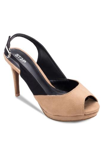 露趾繞踝厚底高跟鞋, 女esprit服飾鞋, 魚口鞋