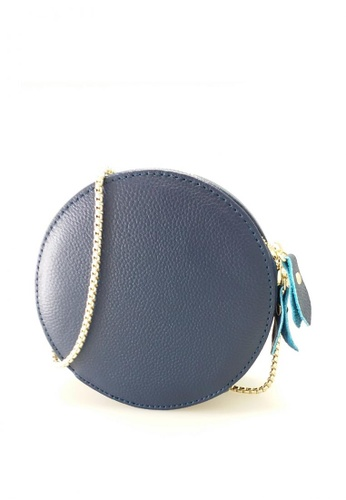 IXACC blue and navy Leather Drum Bag IX982AC83TEUPH_1