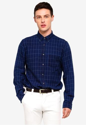 Brooks Brothers 海軍藍色 長袖格紋襯衫 0A0A1AADE9AFC4GS_1