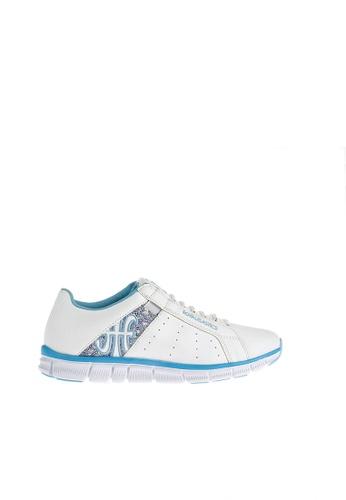 Royal Elastics white and blue Zephyr Laceless Trainers RO796SH2UYLAHK_1