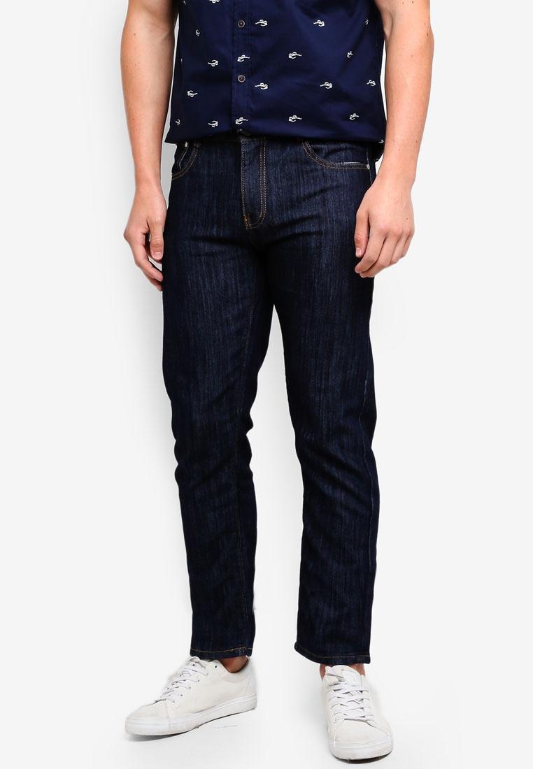Fidelio Denim Jeans Straight Dark Slim Casual Blue xIBUFg