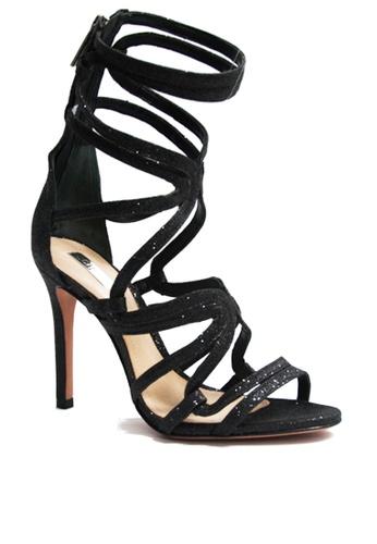 Covet black Schutz Antonella Ankle Strap Heels CO331SH25ENEPH_1