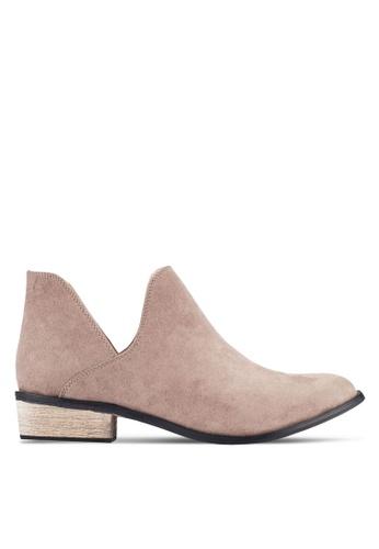 ZALORA brown Ankle Boots 7107CSH5DF98B3GS_1