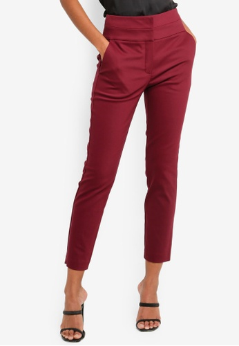 Forever New red Petite Georgia High Waist Pants 3F37DAA62A68ABGS_1