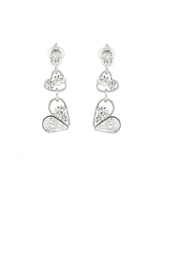 Glamorousky silver Sweetheart Earrings with Silver Austrian Element Crystals DE7AAAC23E78A7GS_1