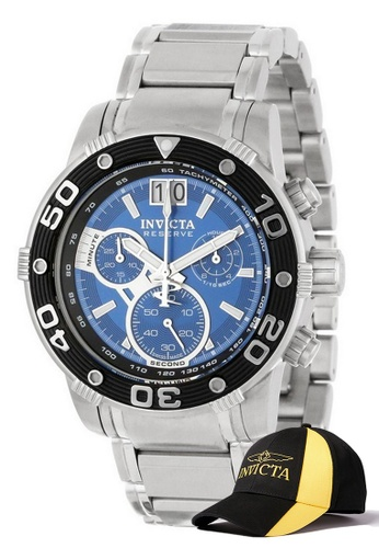 INVICTA black Invicta Reserve Men Swiss Quartz Chronograph 47mm Stainless Steel Watch 10588 w/ Free Official Baseball Cap 9C9FAAC81EF0DEGS_1