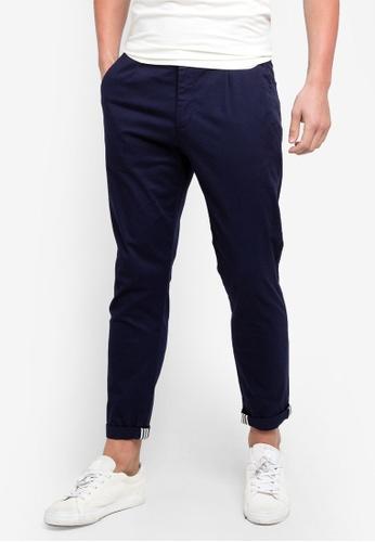 ESPRIT 海軍藍色 Woven Cropped Pants E5628AA7376B30GS_1