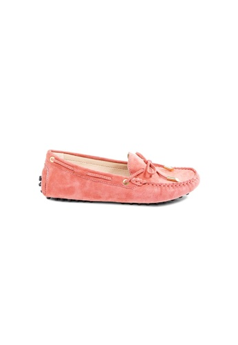 prettyFIT pink Pink Lambsuede Driving Shoes With Padded Insoles 54CB9SHE408FF9GS_1