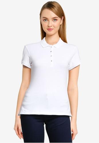 Springfield white Organic Cotton Polo Shirt 88901AACBFEDC6GS_1
