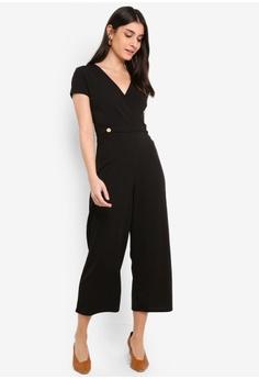 4d7f083a48e Dorothy Perkins Button Wrap Culotte Jumpsuit S  89.90. Sizes 6 10 12 16