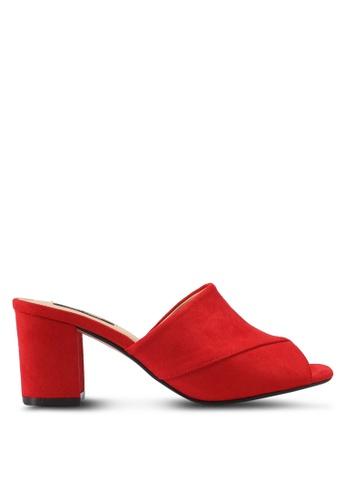 ZALORA red V-Upper Slip On Heels 42556SH43BDD0DGS_1