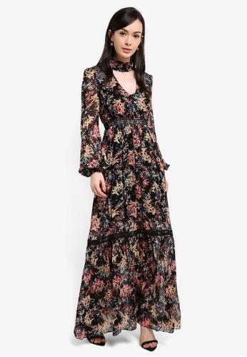 Forever New multi Agnetha Floral Maxi Dress 7787DAA805B993GS_1