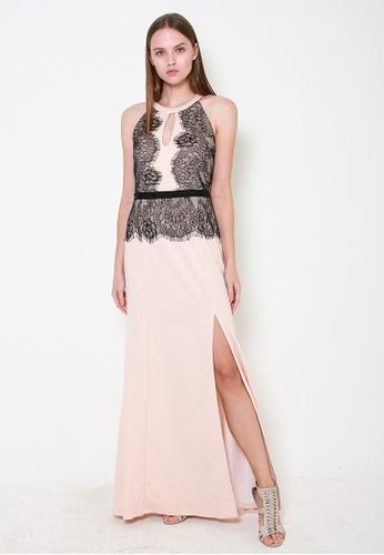 Leline Style black and beige Noelle Lace Maxi Dress 5BFE8AAAFBA902GS_1
