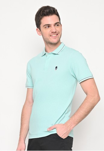 Skelly blue Skelly Guardian Classic Polo In Turqoise DB679AAEEFE2F0GS_1