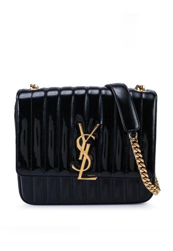 SAINT LAURENT black Medium Vicky Quilted Shoulder Bag (zt) 109E0AC2EA7CA5GS_1