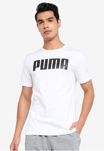 PUMA white Essentials Men's Tee 9B8D1AAC57AF59GS_1