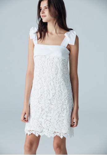 iROO white Laced Dress B5A76AA4777B8CGS_1