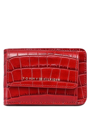 Tommy Hilfiger red Leather Card Holder E9FD4AC04D0D4FGS_1