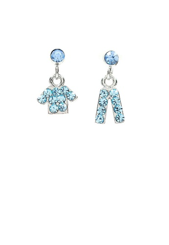 Glamorousky blue Fancy Clothes and Trousers Earrings with Light Blue Austrian Element Crystals 965FFAC3B5103BGS_1