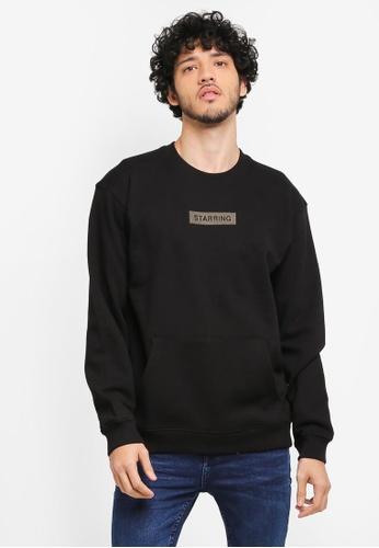 MANGO Man black Embroidered Cotton Sweatshirt MA449AA0T1FIMY_1