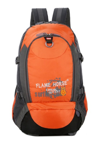 Jackbox orange FlameHorse Water Resistant Camping Travelling Hiking Backpack 40L 153 774F9AC913BC64GS_1