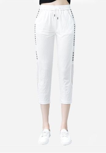 Twenty Eight Shoes white VANSA Fashion Sports Cropped Trousers  VCW-P236 7BB5CAA53F9E33GS_1