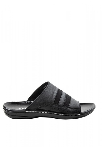 Otto black Casual Slide Sandals 44D28SHF8559ACGS_1